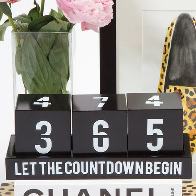Decorative Wood Countdown Calendar