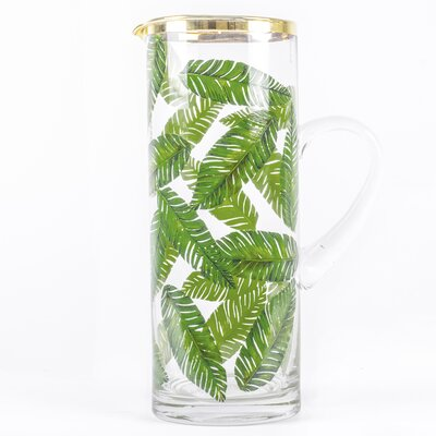 Botanical Palm Leaf Pitcher