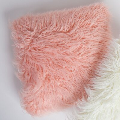 Fur Throw Pillow Color: Pale Pink