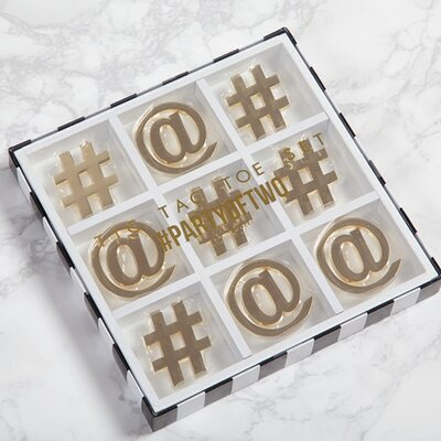 8 Oak Lane Tic Tac Toe Accent Tray
