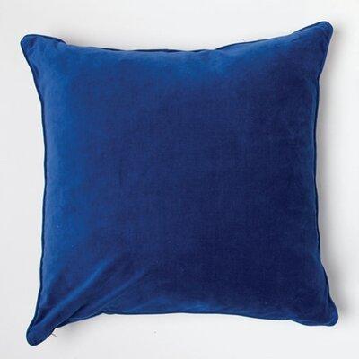 Velvet Throw Pillow Color: Bright Blue
