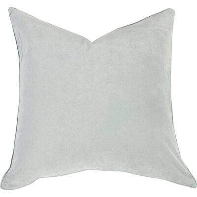 Velvet Throw Pillow Color: Pale Turquoise