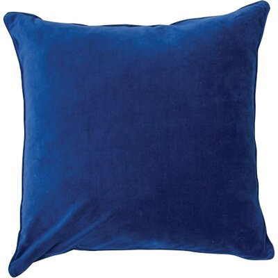 Velvet Throw Pillow Color: Bright Blue