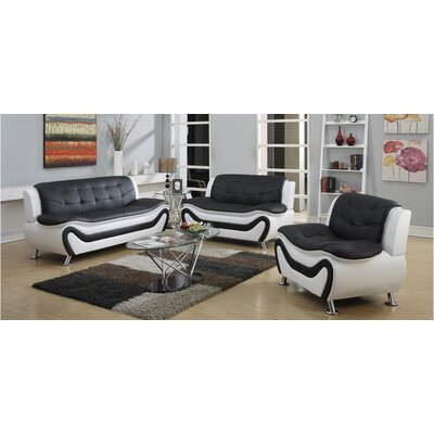 Machelle 3 Piece Living Room Set