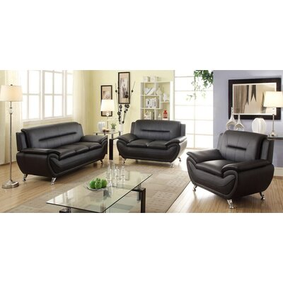 Latitude Run LRUN1342 Bergenfield 3 Piece Sofa Set