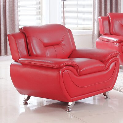 Bergenfield Modern Living Room Club Chair Upholstery: Red