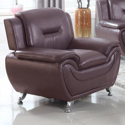 Bergenfield Modern Living Room Armchair Upholstery: Dark Brown
