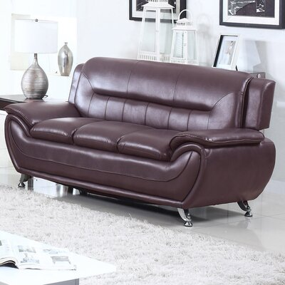 Bergenfield Modern Living Room Sofa Color: Dark Brwn