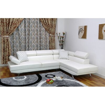 Whitney Sectional Upholstery: White, Orientation: Right Hand Facing