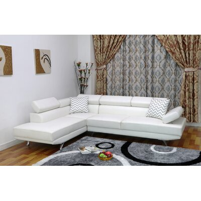 Whitney Reclining Sectional Upholstery: White, Orientation: Left Hand Facing