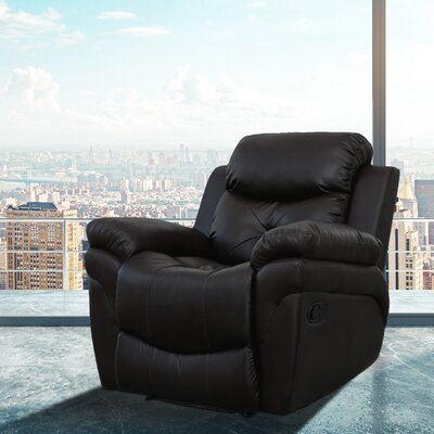 Beatrice Vibrating Faux Leather Heated Massage Chair Upholstery: Black
