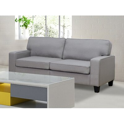 Bittle Linen Modern Living Room Sofa Upholstery: Gray