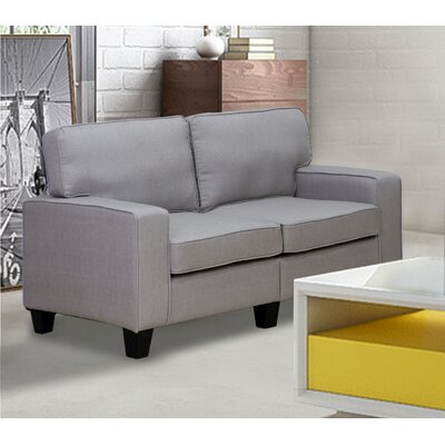 Bittle Modern Living Room Loveseat Upholstery: Gray
