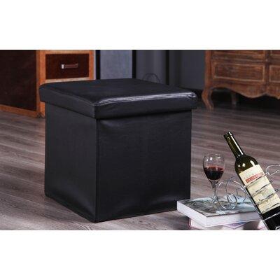 Balling Folding Storage Ottoman Upholstery: Black
