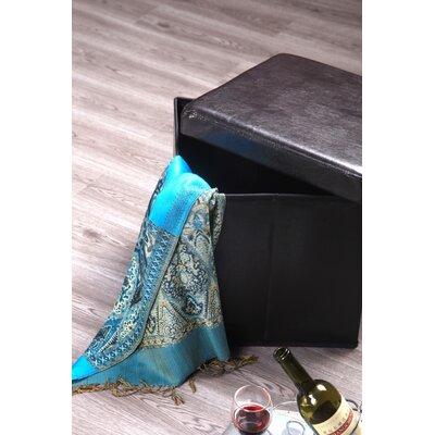 Balling Folding Storage Ottoman Upholstery: Dark Brown