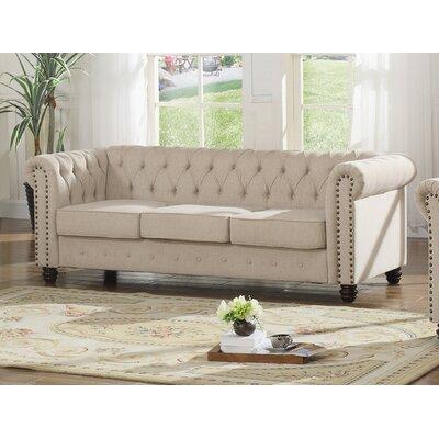 Sharniece Modern Sofa Upholstery: Beige