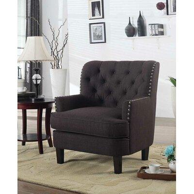 Amatrudo Modern Armchair Upholstery: Charcoal