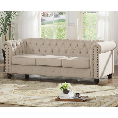 Altman Fabric Modern Living Room Sofa Upholstery: Beige