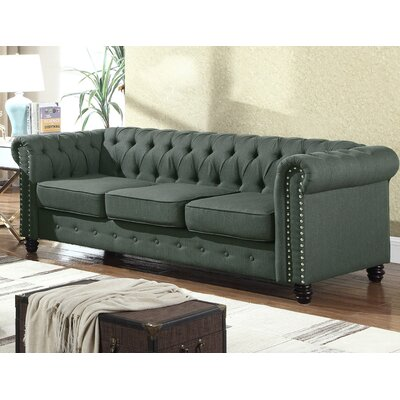 Altman Fabric Modern Living Room Sofa Upholstery: Olive