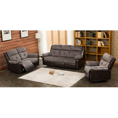 Tanna 3 Piece Living Room Set Upholstery: Gray