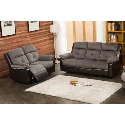 Tanna 2 Piece Living Room Set Upholstery: Gray