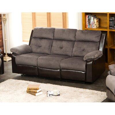 Tanna Reclining Sofa Upholstery: Gray