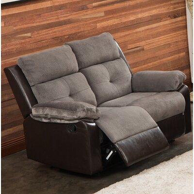 Tanna Reclining Loveseat Upholstery: Gray