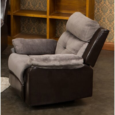 Tanna Manual Rocker Recliner Upholstery: Gray