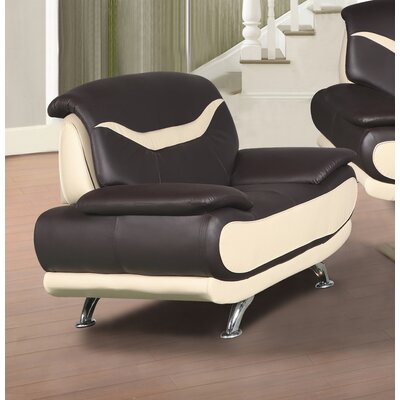 Hamon Armchair Upholstery: Brown/Beige