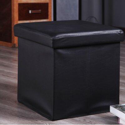 Balling Storage Ottoman Upholstery: Black