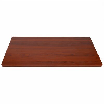 Height Adjustable Standing MDF Desktop Finish: Mahogany
