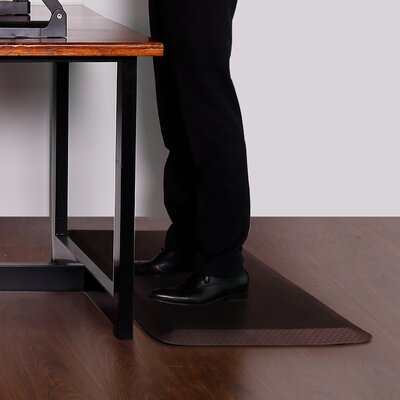 Delmore Standing Desk Anti-Fatigue Mat Color: Brown