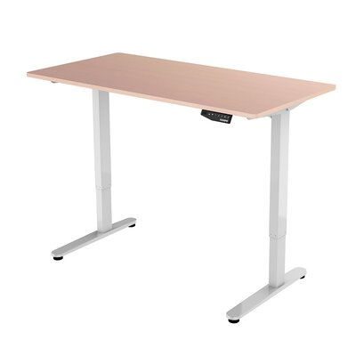 48.4 H x 63 W Desk Base Finish: White