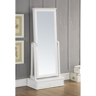 Traci Free standing Jewelry Armoire with Mirror