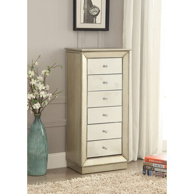 Talor Free Standing Jewelry Armoire with Mirror