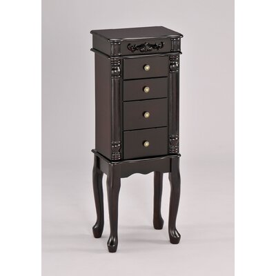 Tiana Free Standing Jewelry Armoire with Mirror