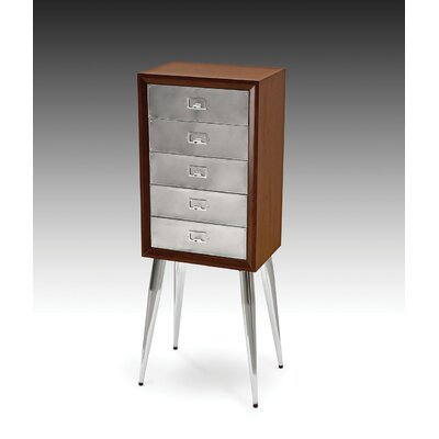 Gannon Free Standing Jewelry Armoire Color: Chrome