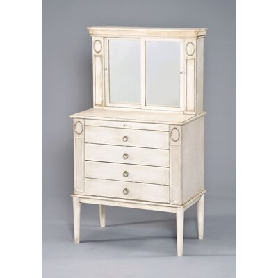 Leven Free Standing Jewelry Armoire with Mirror