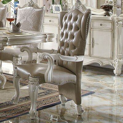 Versailles Arm Chair Finish: Bone White