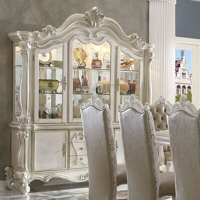 Versailles China Cabinet Finish: Bone White