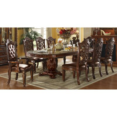 Vendome Floral Carved Dining Table