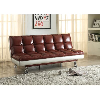 Baka Convertible Sofa Upholstery: Dark Red