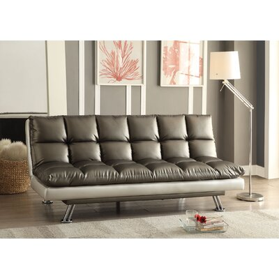 Baka Convertible Sofa Upholstery: Dark Silver
