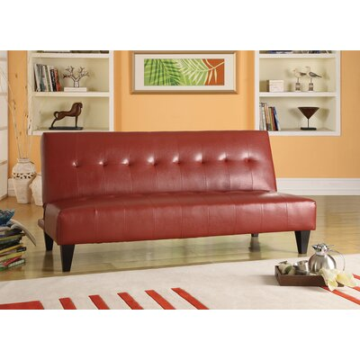 Conrad Sleeper Sofa Upholstery: Red