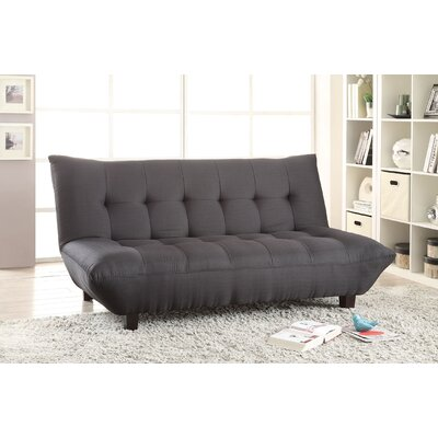 Baines Convertible Sofa Upholstery: Black