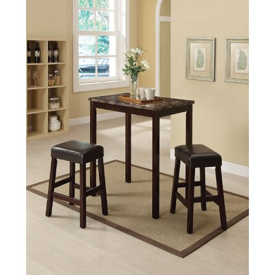 Idris 3 Piece Counter Height Dining Set