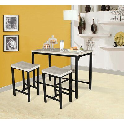 Mira 3 Piece Counter Height Dining Set