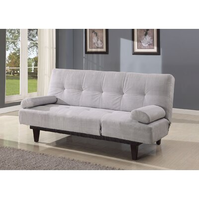 Cybil Convertible Sofa Upholstery: Silver