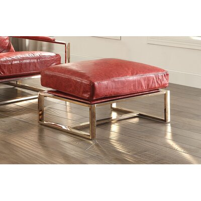 Quinto Leather Ottoman