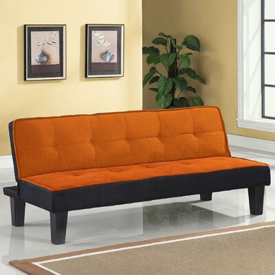 Hamar Convertible Sofa Upholstery: Orange